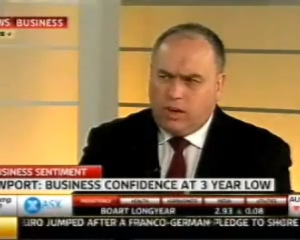 Sky Business News: David Hand, Managing Director - Business confidence at a 3-year low